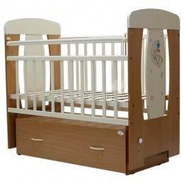 Кроватка Верона маятник с ящиком поперечный 120*60 витринный образец