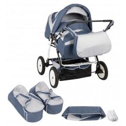 Детская коляска трансформер для двойни Slaro Santa Cruse
