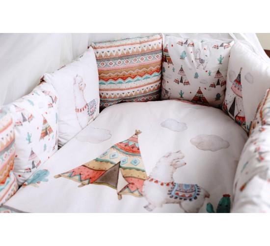 Комплект в кроватку lappetti ламы артикул 6088