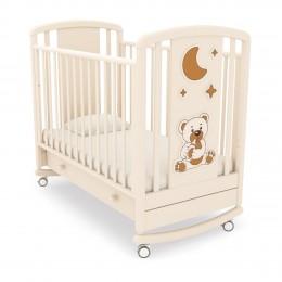 Детская кроватка-качалка Angela Bella Жаклин (мишка с соской)