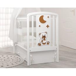 Детская кроватка с универсальным маятником Angela Bella Жаклин (мишка с соской)
