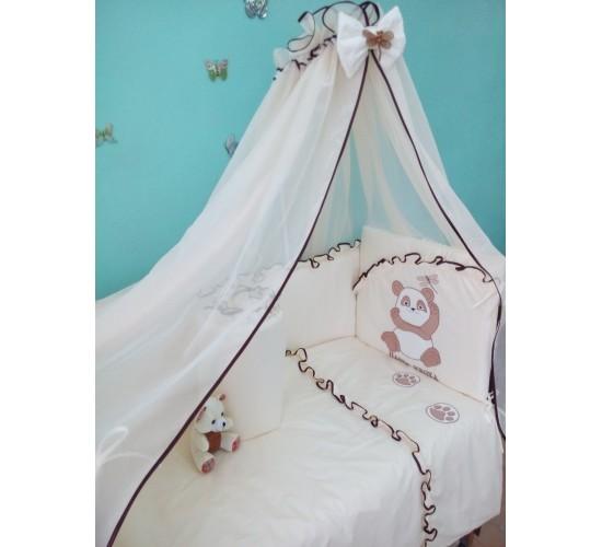 Комплект в кроватку Сонечка Панда 7 пр. арт. 051