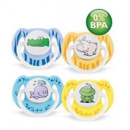 Пустышка силиконовая животные 6-18 м. (уп.2шт.) BPA-Free