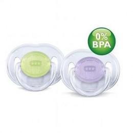 Пустышка силиконовая классика 3-6 м. (уп.2шт) BPA-Free