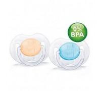 Пустышка силиконовая классика 0-3 м. (уп.2шт) BPA-Free