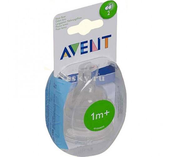 Avent соска медленный поток 1 м+ (уп. 2 шт.)