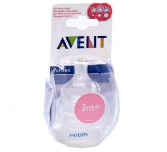 Avent соска переменный поток 3 м+ (уп. 2 шт.)