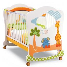 Детская кроватка Pali Gigi&Lele колесо-качалка Продаётся в собранном виде