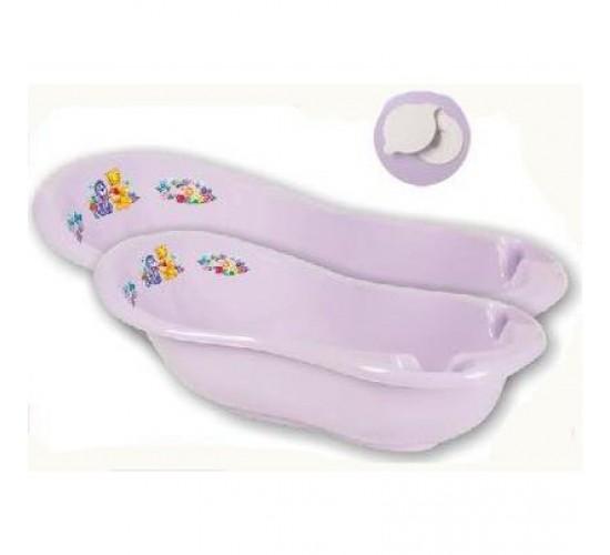 Детская ванна 100 см «Кубусь» с пробкой Арт.1285 сиреневый