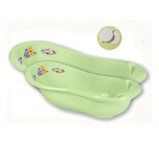Детская ванна 100 см «Кубусь» с пробкой Арт.1285 салатовый