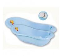 Детская ванна 100 см «Уточка» с пробкой Арт.1353 голубой