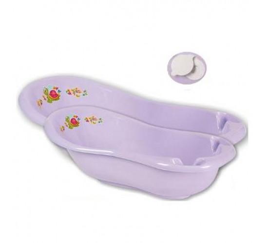 Детская ванна 100 см «Черепашка» с пробкой Арт.1018 сиреневый