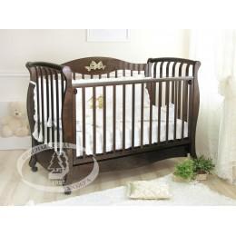 Кроватка С 553 шоколад Елизавета накладка N 27 Бабочки