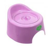 Горшок детский туалетный с крышкой. Арт.118 розовый