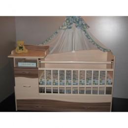 """Детская кровать-трансформер """"Чунга-Чанга-1"""" млечный дуб-ясень шимо"""