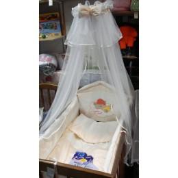 Арт. 023 Балдахин для детской кроватки 4-х метровый сетчатый Сонечка