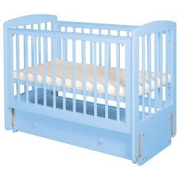"""Кроватка АБ 16.3 """"Ромашка"""" голубая продольный маятник"""