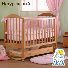 """Кроватка АБ 17.1 """"Лилия"""" натуральный"""