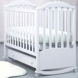 """Кроватка АБ 17.1 """"Лилия"""" белый"""