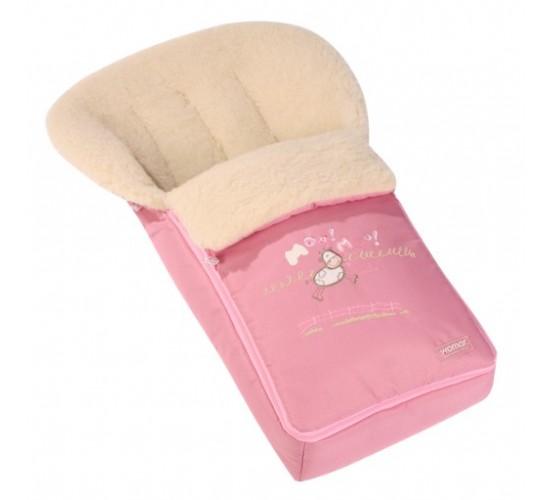Конверт меховой Womar розовый