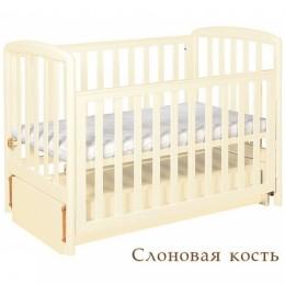 """Кроватка АБ 18.3 """"Незабудка"""" слоновая кость"""