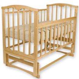 Детская кроватка Агат Золушка-3 маятник поперечный светлый Арт.52100