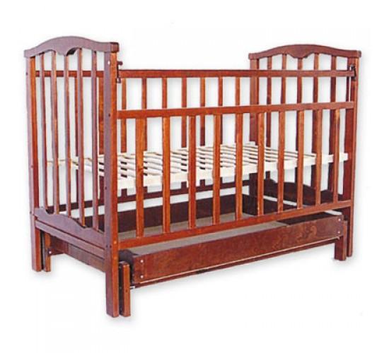 Детская кроватка Агат Золушка-4 маятник поперечный с ящиком вишня Арт.52103