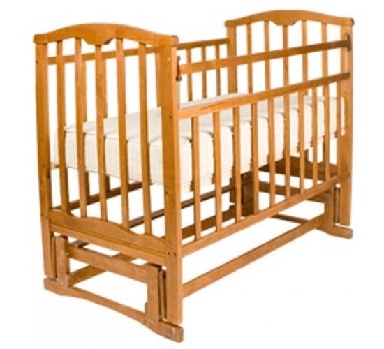 Детская кроватка Агат Золушка-5 маятник продольный светлый Арт.52100