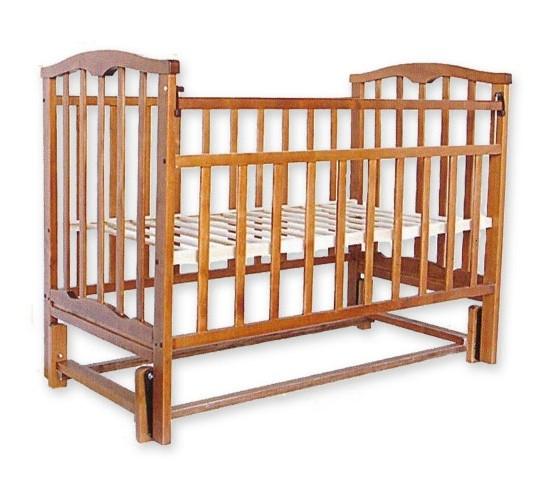 Детская кроватка Агат Золушка-5 маятник продольный орех Арт.52101