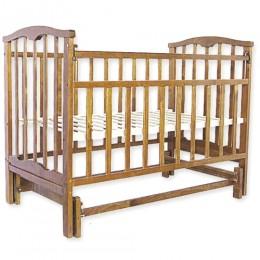 Детская кроватка Агат Золушка-3 маятник поперечный орех Арт.52101