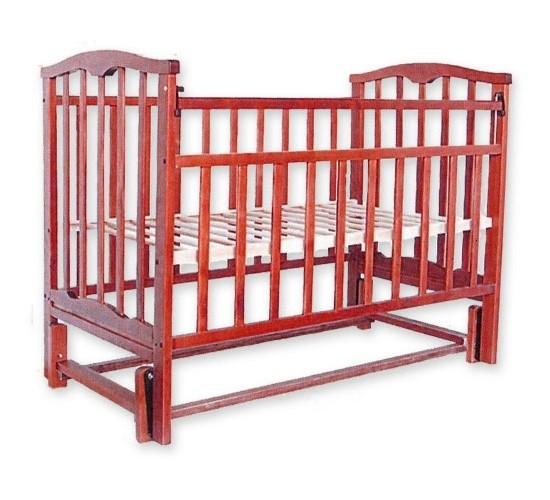 Детская кроватка Агат Золушка-5 маятник продольный вишня Арт.52103