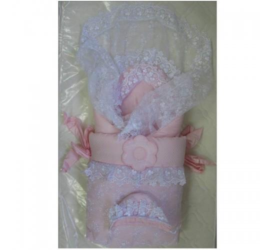Комплект на выписку меховой ИП Сдобина Арт.70 розовый