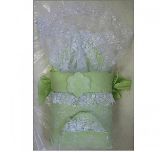 Комплект на выписку меховой ИП Сдобина Арт.70 зеленый