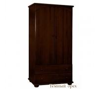 Шкаф для одежды детский Кубаньлесстрой АБ 35 темный орех