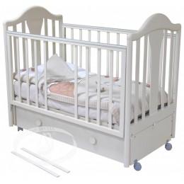 Кроватка с 555 Карина розовый маятник продольный