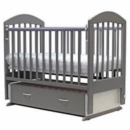 Кроватка Дарина-6 поперечный маятник с ящиком 120*60 серебро
