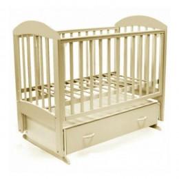 Кроватка Дарина-6 поперечный маятник с ящиком 120*60 Слоновая кость