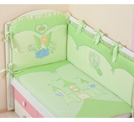 Комплект в кроватку Сдобина 7 пр арт 83 Принцесса