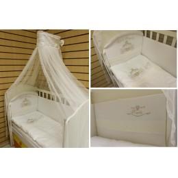 Комплект в кроватку Сдобина 7 пр сатин арт 98 Маленькое высочество