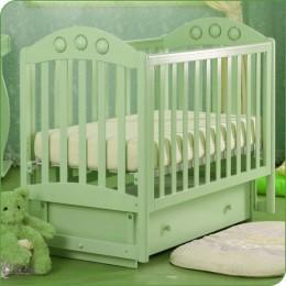 Кроватка АБ 24.2 орхидея зеленый