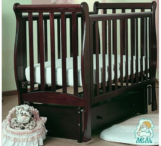 Кроватка АБ 21.3 Лаванда  махагон
