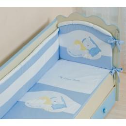 Бампер охранный в кроватку АРТ.50.111 голубой