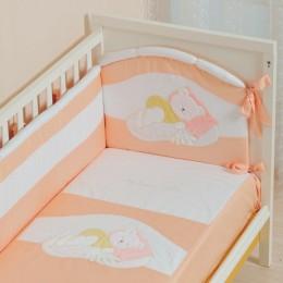 Бампер охранный в кроватку АРТ.50.111 персиковый