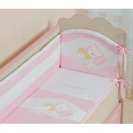 Бампер охранный в кроватку АРТ.50.111 розовый