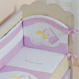 Бампер охранный в кроватку АРТ.50.111 фиолетовый