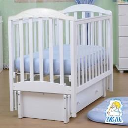Кроватка АБ 17.3 Лилия белый инкрустация стразами
