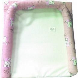 Матрасик для пеленания с бортиками на комод розовый