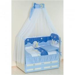 Комплект в кроватку Сдобина Арт. 63 голубой