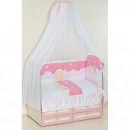 Комплект в кроватку Сдобина Арт. 63 розовый