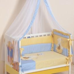 Комплект в кроватку Сдобина Арт. 64 голубой